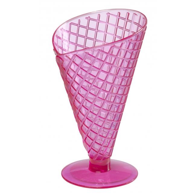 Roze ijscoupe 9,2 cm