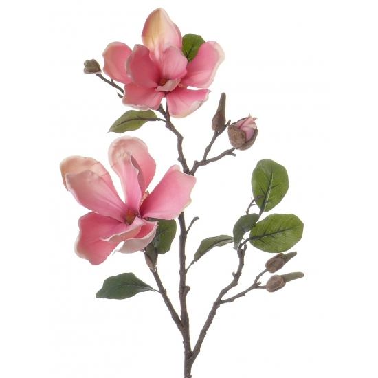 Roze Magnolia decoratie tak 72 cm