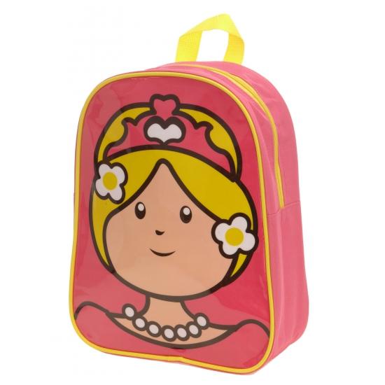 Roze prinses rugtas voor kids