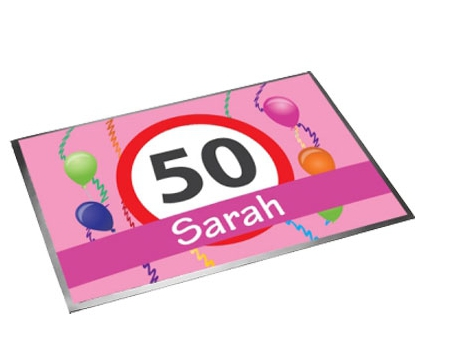 Roze Sarah 50 deurmat