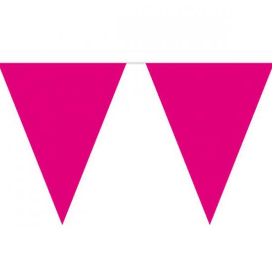 Roze slinger met vlaggetjes