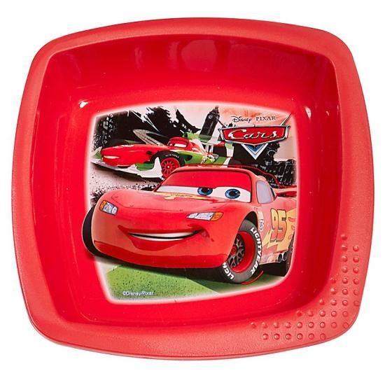 Schaaltje rood met plaatjes van Cars 16 cm