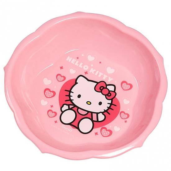 Schaaltje roze met plaatjes van Hello Kitty 16 cm