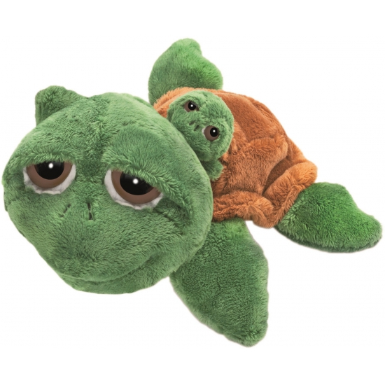 Schildpad knuffels met baby 29 cm