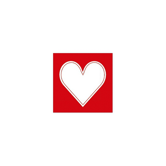 Servetten met hart 20 stuks
