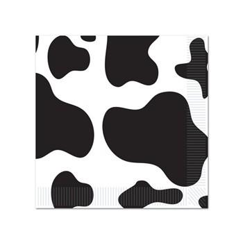 Servetten met koeienvlekken 16 stuks