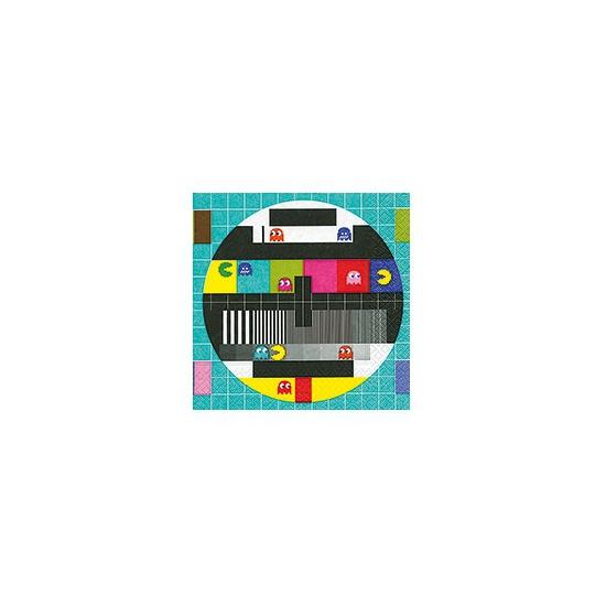 Servetten met Pacman en testbeeld 20 stuks