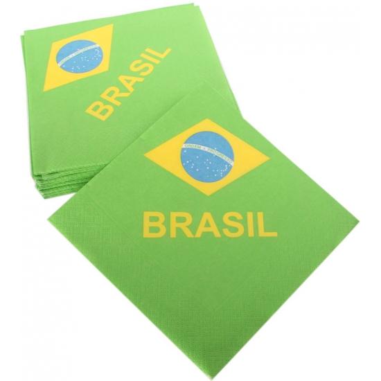 Servetten van vlag Brazilie