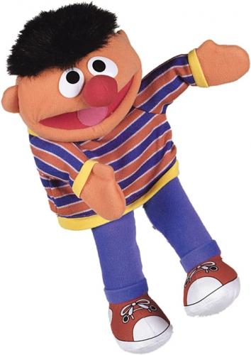 Sesamstraat handpoppen Ernie