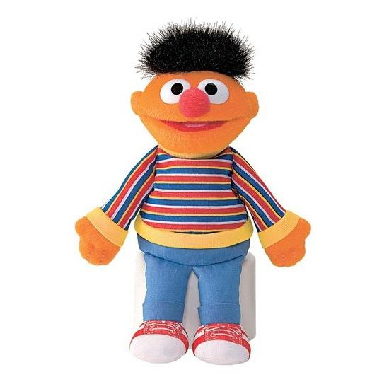 Sesamstraat knuffels Ernie 16 cm