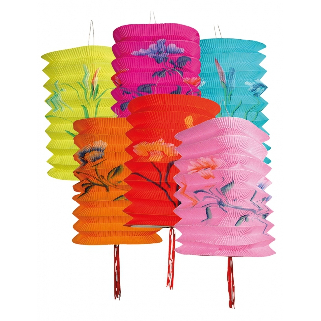 Set met 12 Hawaii lampionnen