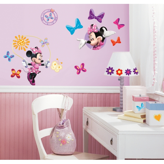 Set muurstickers Minnie Mouse