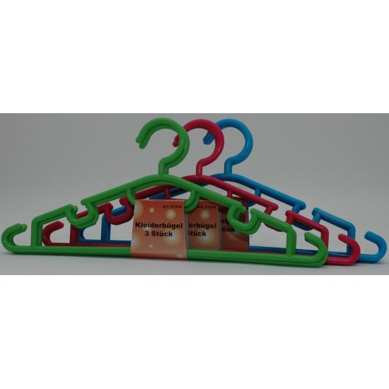 Set van 3 kuntstof hangers