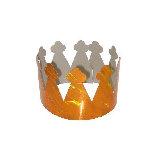 Setje van 6 kartonnen kronen