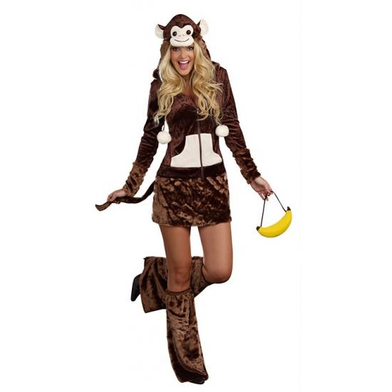 Sexy apen jurk met capuchon