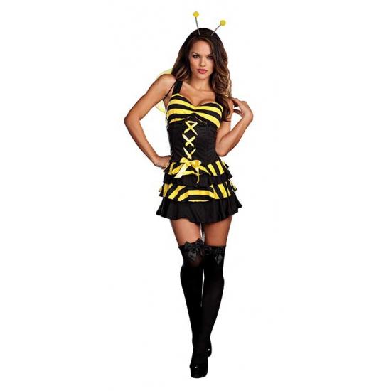 Sexy bijen jurk met capuchon