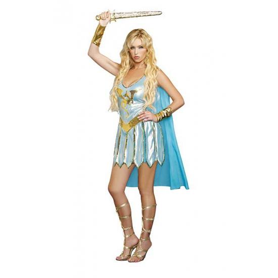 Sexy blauw Romeins jurkje