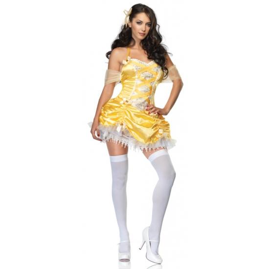 Sexy carnavals jurkje geel