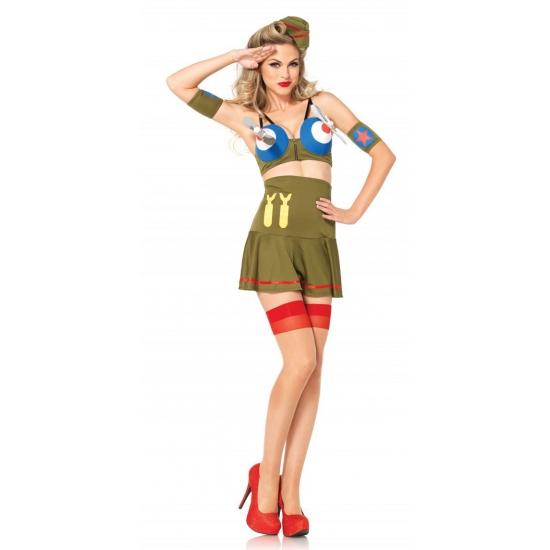 Sexy leger piloot pakje voor dames