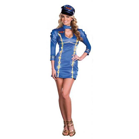 Sexy lichtgevende stewardessen outfit