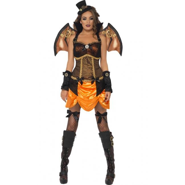 Sexy steampunk vleermuis kostuum