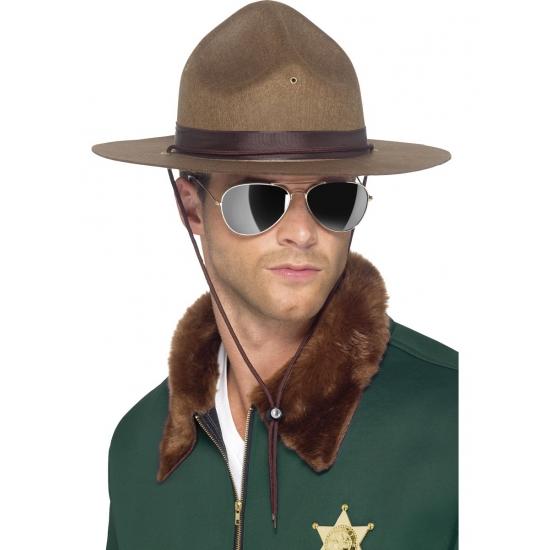 Sheriff hoeden bruin