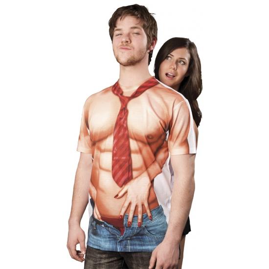 Shirt met sexy man opdruk