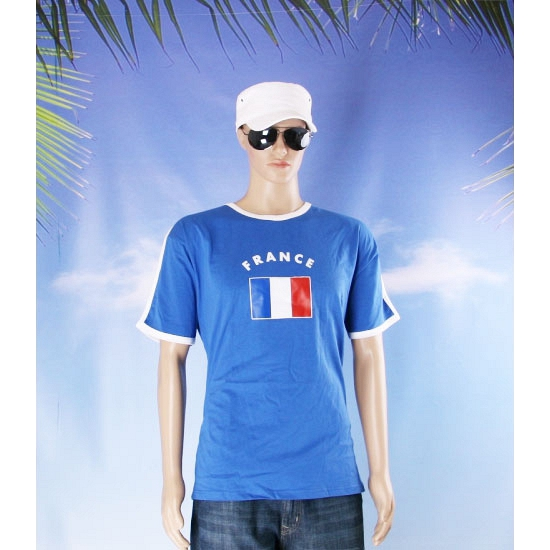 Shirts met vlag van Frankrijk heren