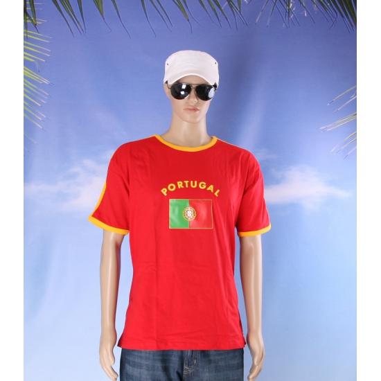 Shirts met vlag van Portugal heren