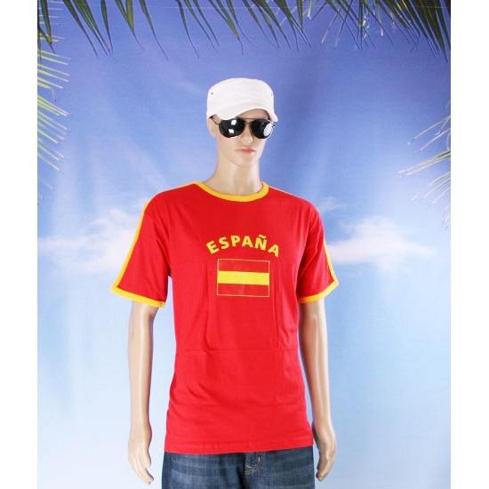 Shirts met vlag van Spanje heren
