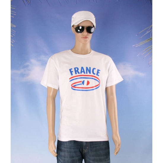 Shirts met vlaggen thema Frankrijk