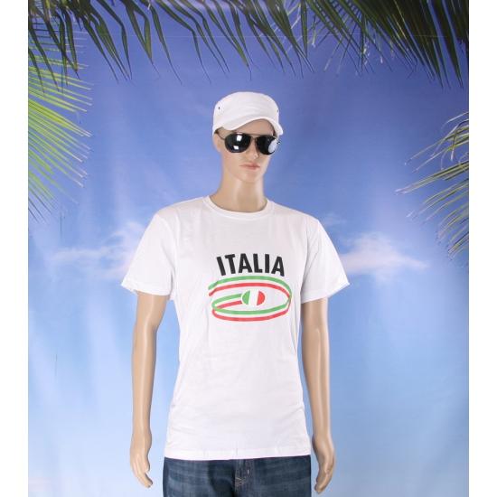 Shirts met vlaggen thema Italia heren