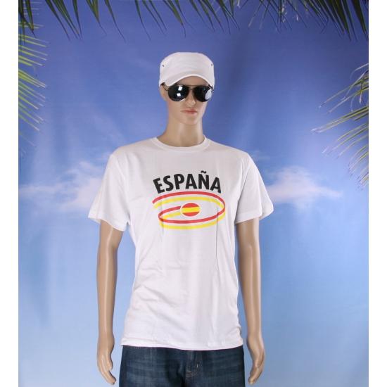 Shirts met vlaggen thema Spanje heren
