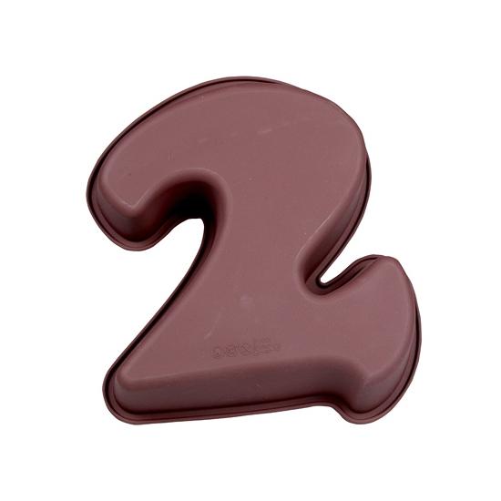 Siliconen bakvorm cijfer 2