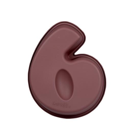 Siliconen bakvorm cijfer 6