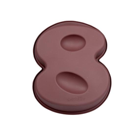 Siliconen bakvorm cijfer 8
