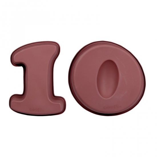Siliconen bakvormen cijfer 10