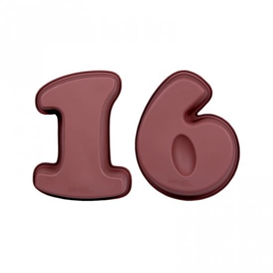 Siliconen bakvormen cijfer 16