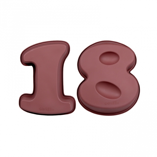 Siliconen bakvormen cijfer 18
