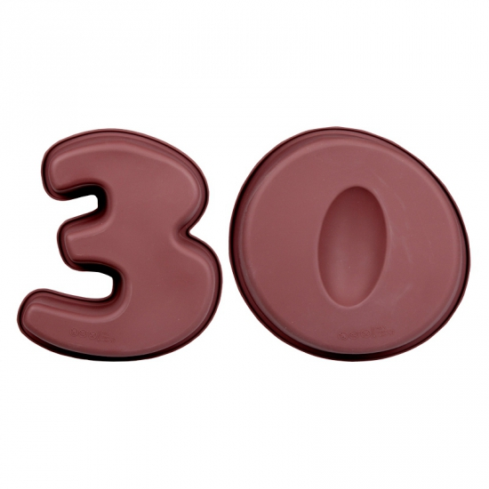 Siliconen bakvormen cijfer 30