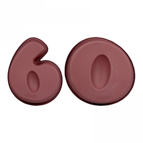 Siliconen bakvormen cijfer 60