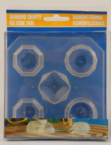 Siliconen ijsblokjes diamantvorm 5 stuks