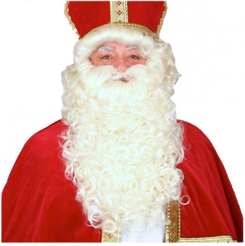 Sinterklaas baardstel met snor