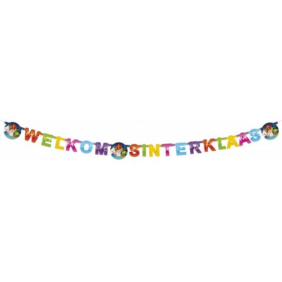 Sinterklaas letterslinger Welkom Sinterklaas