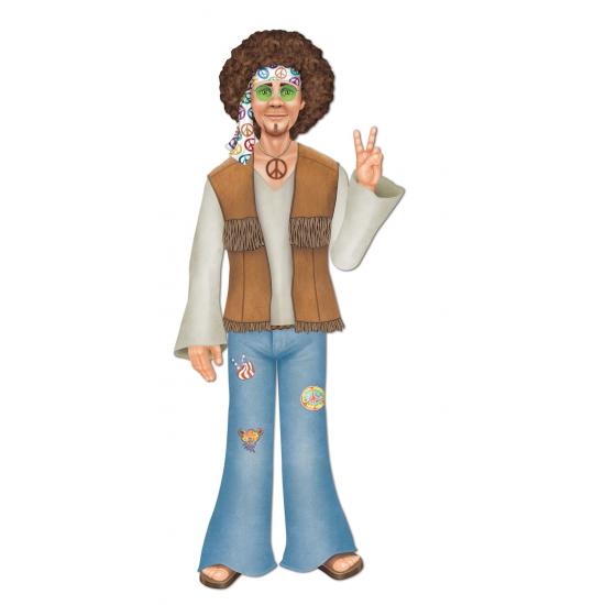 Sixties hippie decoratie man