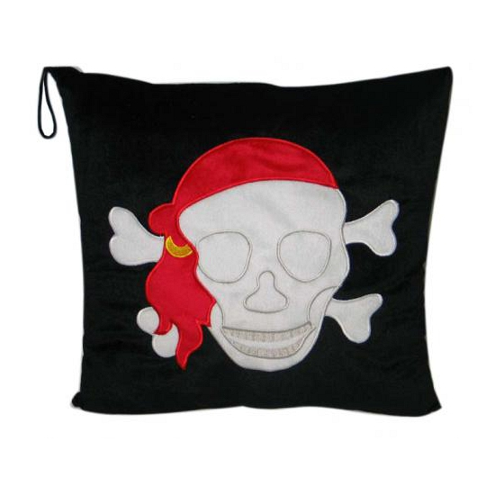 Skull and bones piraten kussentje