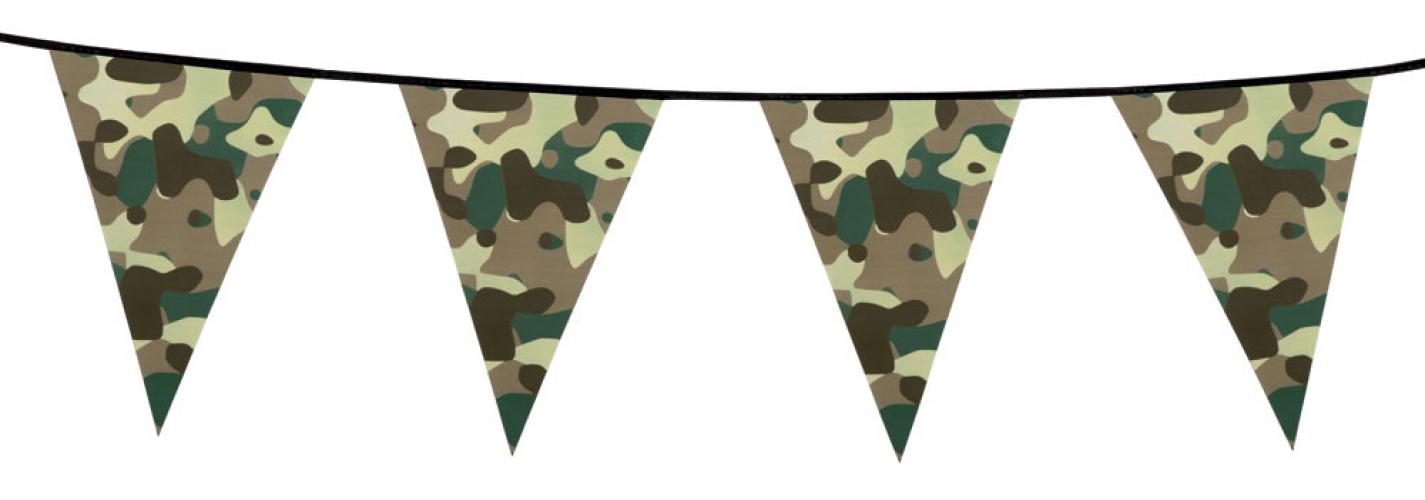 Slingers met camouflage print