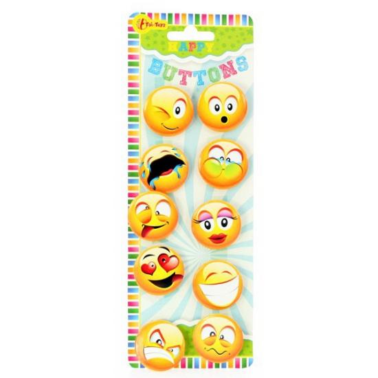 Smiley buttons 10 stuks