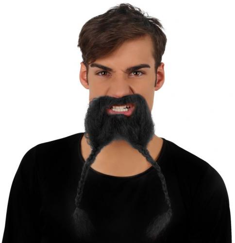 Snor met een baard met vlechtjes