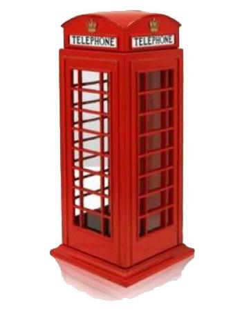 Spaarpot rode telefooncel